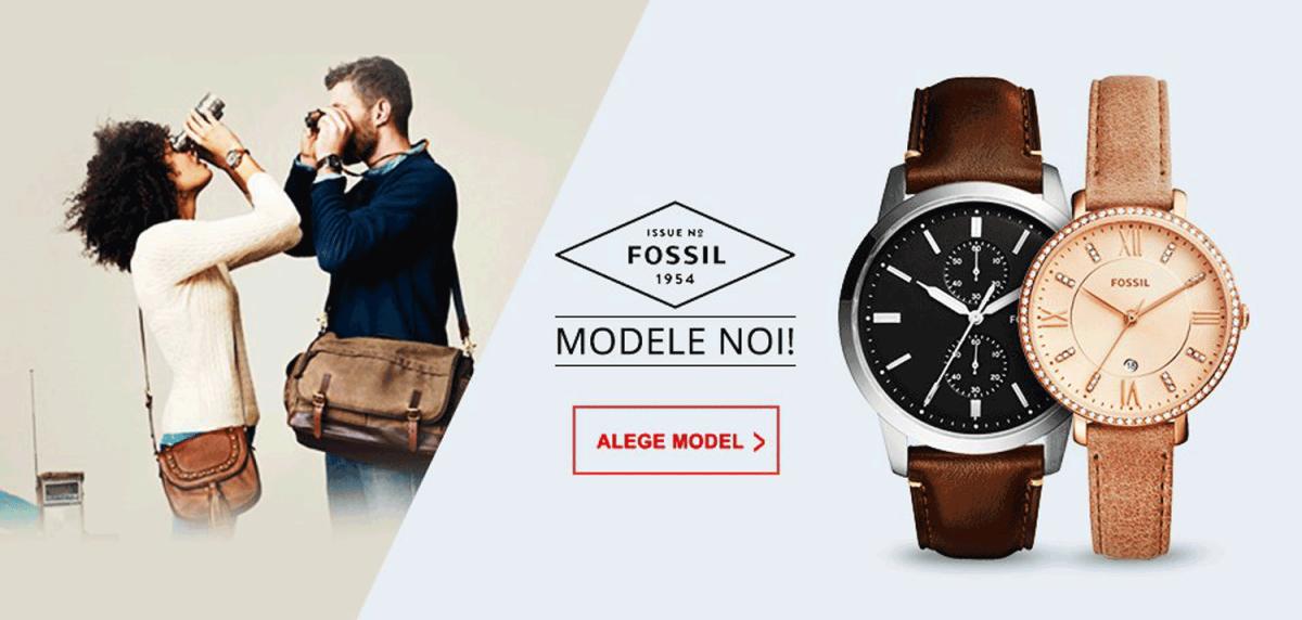 Cumpara modele noi din colectiile de ceasuri Fossil